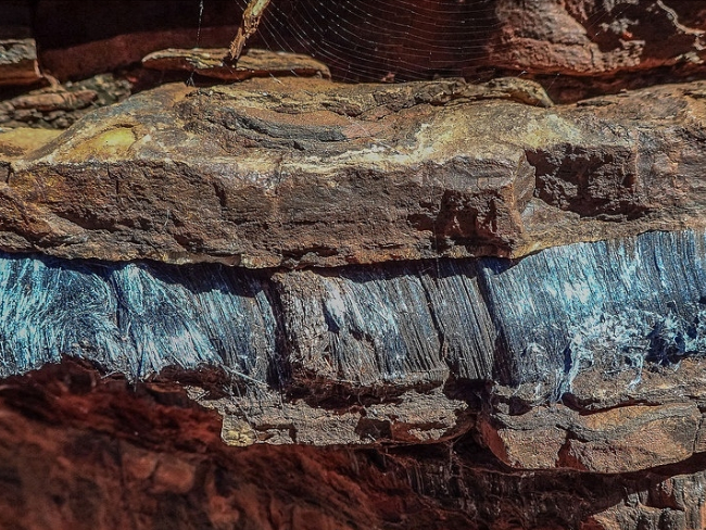 blue asbesto