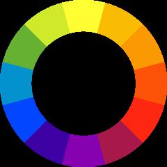 Cores complementares - Círculo Cromático