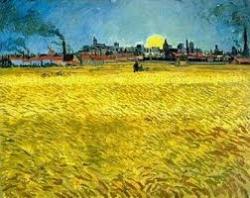 Pôr-do-Sol_Campo de Trigo - Van Gogh