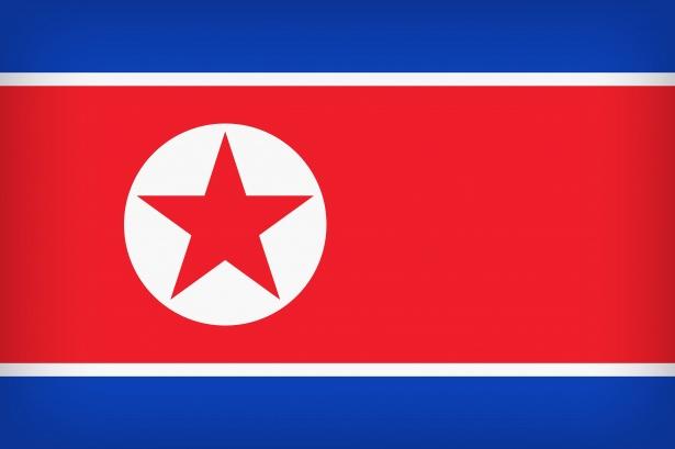 Bandeira da Coreia norte