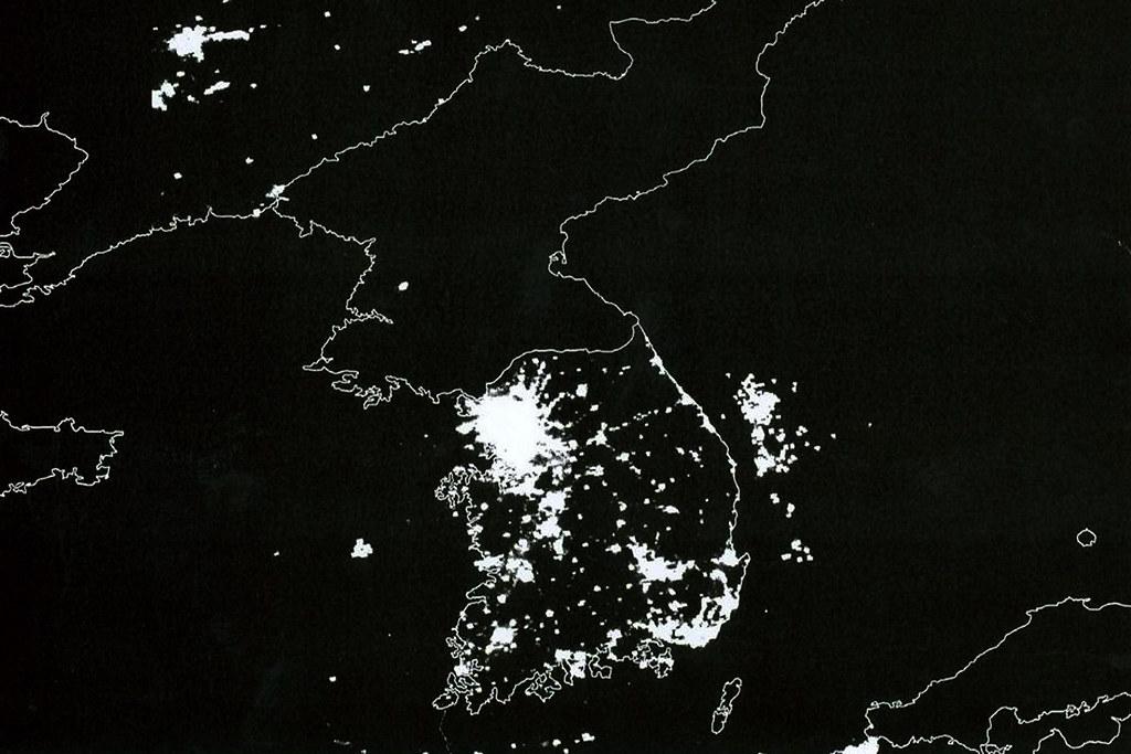 Coreia Norte iluminação