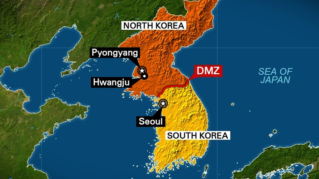 Mapa Coreia norte