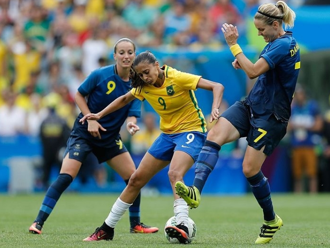 futebol feminino Brasil Suécia