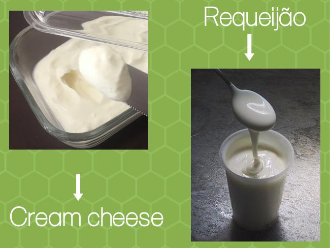 requeijão e cream cheese