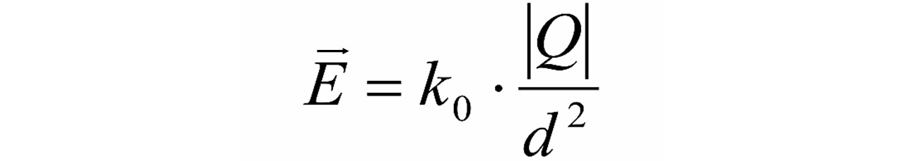 Fórmula campo elétrico