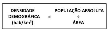 densidade demográfca
