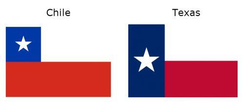 Chile e Texas - Bandeiras