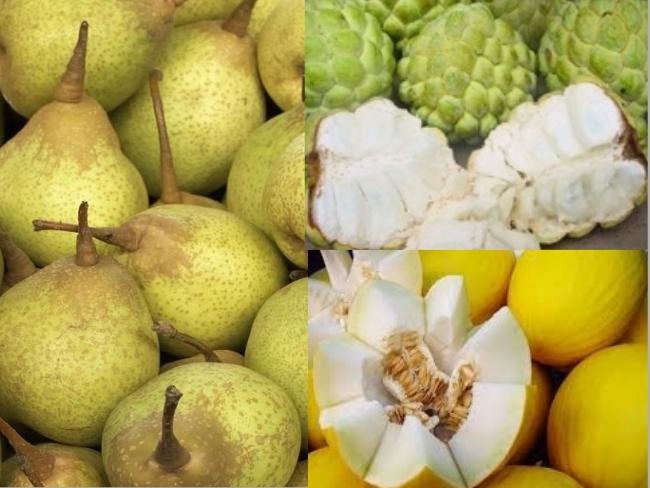 frutas brancas