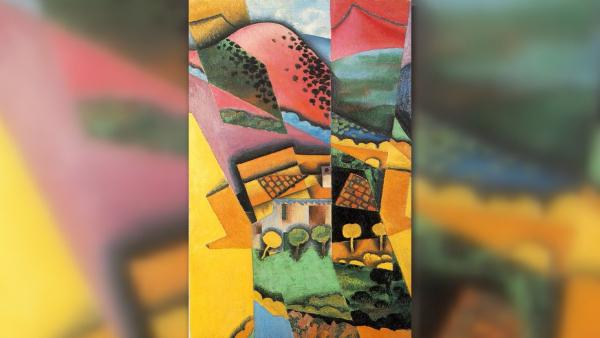 Landscape at Ceret - Juan Gris - Cubismo Sintético